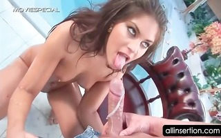naked oily floozy booty screwed and toyed by the