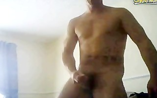 fit northern chav naked and cumming on webcam