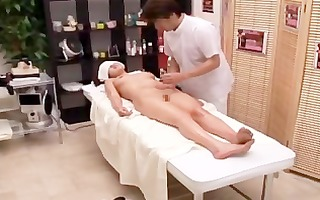 reluctant college cutie tempted by masseur