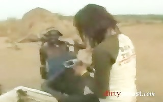 japanese reporter receives screwed by african