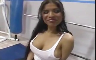 latina sweetheart fucked at the gym