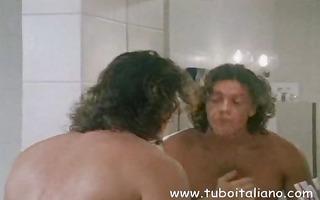 italian brunette hair wife receives her love