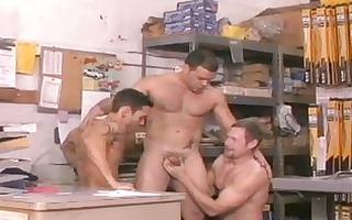 shaggy boys have a fun homosexual three-some