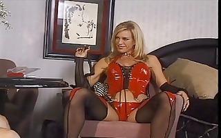 blond slut in red underware is a penis bitch