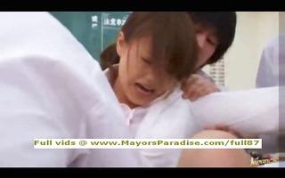 akiho yoshizawa innocent asian teacher does oral