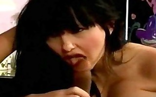 brunette hair nymph mamma copulates a younger lad