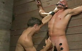 excited homo guy got his dick roped and blown