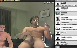 musclsmoke cam4 web camera gay couple part 1