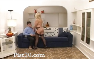 fisting my beautfiul wife on the daybed