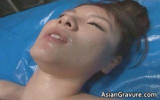 super cute oriental wrestlers blowing tube part5