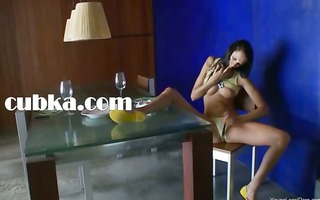 russian brunette penetrated on the chair