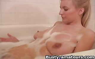 autumn fingering while taking a shower