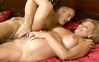 breasty grandma has hard sex with her lover