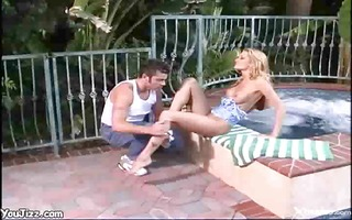 sexy blondie and stud receive peeped on while