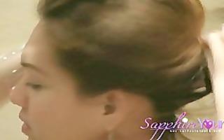 sapphire youngs purple bikini