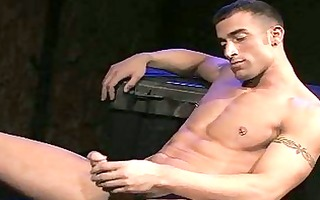concupiscent shaved twink stripping and teasing