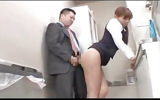 office lady licked fingered engulfing cock