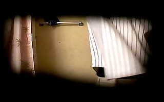 sexy buff roommate showers then strokes